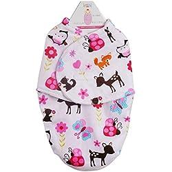 Happy Cherry - Mantas Arrullo de Bebé Saco de Dormir Swaddle Blanket Dormir Bebé de Franela Confortable 30*56cm
