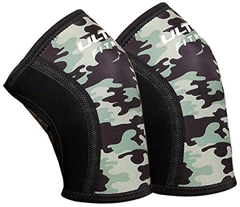 Ultra Fitness genoux manches (1paire) support & Compression pour haltérophilie, d