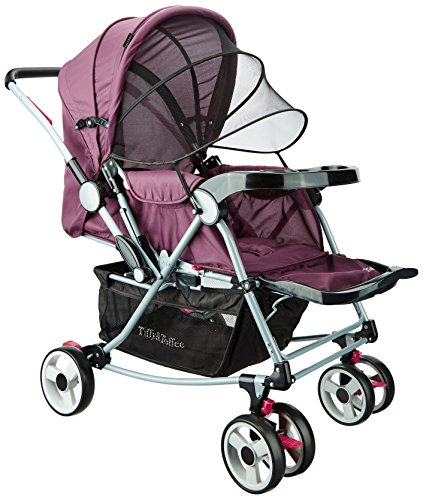 Tiffy & Toffee Baby Stroller With Rocker (Fuchsia)