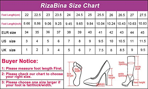 RizaBina Femmes Occidental Bloc Talons Hauts Peep Toe Sangle De Cheville Ete Bottillons Sandales Abricot