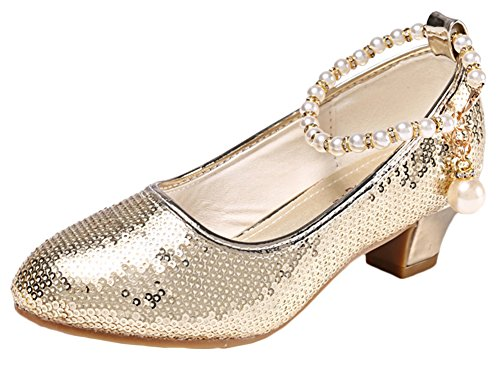 Scothen Prinzessin Gelee Partei Absatz-Schuhe Sandalette Stöckelschuhe Ballerina Schuhe Festliche Mädchenschuhe Taufschuhe Kommunion Hochzeit Feier für Kinder