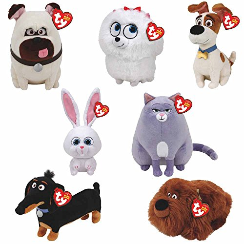 TY Beanie Babies Plush - Secret Life of Pets Movie Soft Toys (Complete set of 7)
