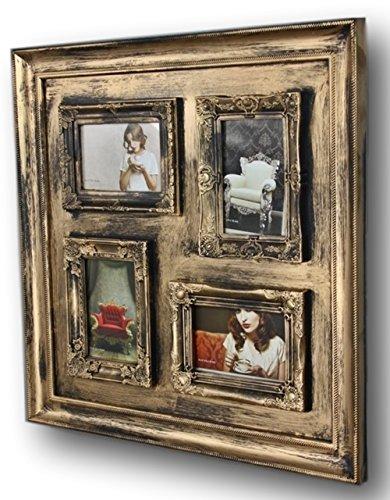 BILDERRAHMEN 10x15 Collage antik Wechselrahmen Wandrahmen Rahmen Landhaus Fotorahmen (gold)