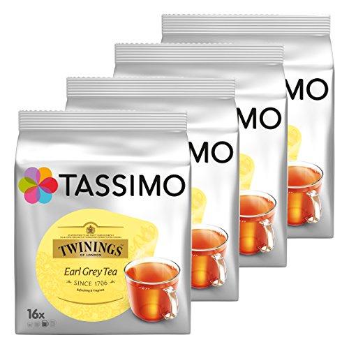 Tassimo Twinings Earl Grey Té, Paquete de 4, 4 x 16 T-Discs