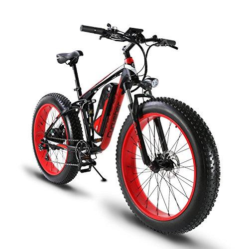 51Cwk2Opl7L. SS500  - Extrbici XF800 1000W 48V13AH Electric Mountain Bike Full Suspension