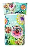 Hip Bettwäsche 5888 Saquira Multi Blumen Fantasie Grafik Satin , Größe:200x200 cm + 2 x 80x80 cm