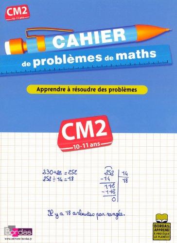 CAHIER PROBLEMES DE MATHS CM2 par ALAIN CHARLES, THIERRY ZABA