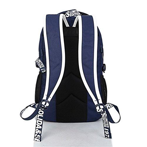 Go Further Mode tideway Stil wasserdichte Segeltuch lässig Reise roter Rucksack für unisex Blau