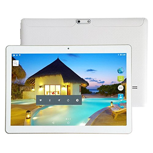 Tablet-Computer,Smart Tablet, Tablet, 10,1 Zoll MTK6592 Achtkern 800*1280 Android 4.4 Dual-Karte Dual-Kamera Handy Tablet Wifi Phablet (White)