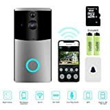 Video Türklingel, mascarry Wi-Fi Smart Klingeln,, 720p HD Tür Sicherheit Kamera, integriertem 8g Karte, Unterstützung Bewegungserkennung, IR-Nachtsicht, 2-Wege Audio und App Steuerung für iOS und Android
