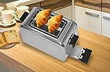 Acelink Automatik Toaster 2 Scheiben, 800 Watt Edelstahl-Toaster mit Brötchenaufsatz, Krümelschublade, 7-Bräunungsstufen (Silber) - 4