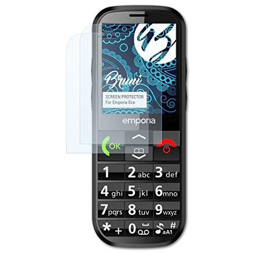 Bruni Schutzfolie kompatibel mit Emporia Eco Folie, glasklare Bildschirmschutzfolie (2X)