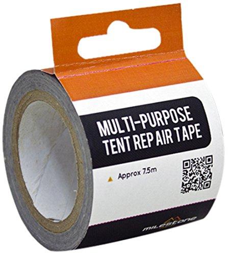 Milestone Camping 24670 Multi-Purpose Tent Repair Tape – Silver, 7.5 m