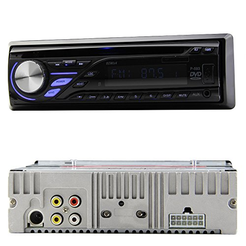 single din car stereo amazon co uk pupug audio ouyd593b1 single din car stereo cd dvd player fm receiver car radio detachable front panel lcd screen car radio wireless remote multimedia