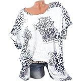 OYSOHE Damen Brief Drucken Top, Frau Kurzarm Bluse Sexy Shirts Taschenoberteile (S-5XL)