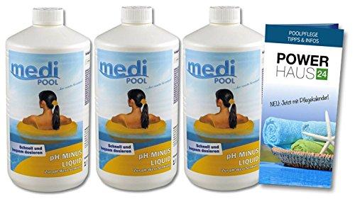 pH Minus flüssig - 3L - mit POWERHAUS24 Pflegefibel -