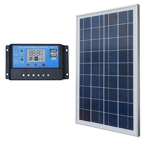 ECO-WORTHY 25W Solar Panel System Kits:25Watts Solar Module & 20A PWM Controller Boat Car (5w Solar-panel-kit)