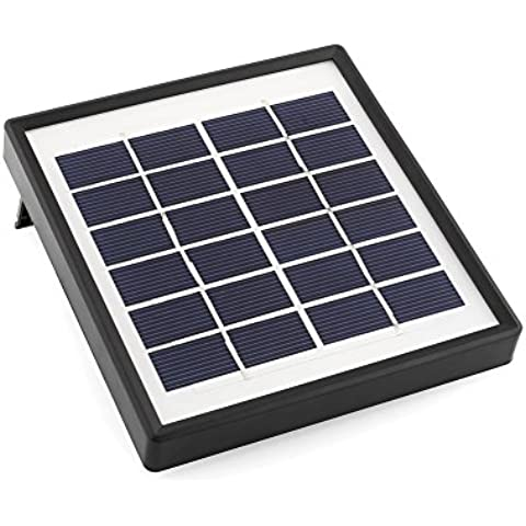 Mvpower Bomba de agua de Energía Solar para Piscina Jardín Fuentes 6V/1.5W Plaza (6V/1.5W)