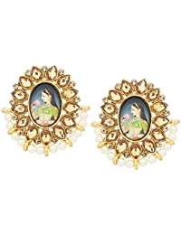 The Luxor Traditonal Gold Plated Stud Temple Jewellery Earring For Women And Girls -ER-1820