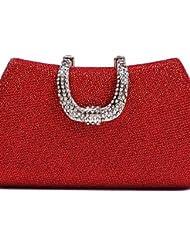 Limón & T L. WEST? Las mujeres evento/partido/boda/Delicate de diamantes noche bolsa bolso de mano, dorado