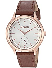 Nixon Women's 'Sala Leather' Quartz Stainless Steel Casual Watch, Color: Brown (Model: A9952630-00)