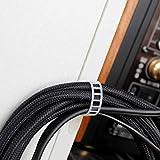 Attacco dei cavi (bianca) Morsetto per cavi adesivi 20 Pezzi, fascetta fissa cavi Clip per cavi Elementi di fissaggio dei cavi Morsetti Fissaggio dei cavi