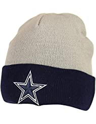 Dallas Cowoboys 2 Tone Gris, Bleu Marin fluo Raised Cuff Knit NFL Cap Hat