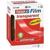 Tesa Film - Pack de 10 cintas adhesivas transparentes, 66 m x 15 mm