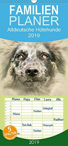 Altdeutsche Hütehunde 2019 - Familienplaner hoch (Wandkalender 2019, 21 cm x 45 cm, hoch)
