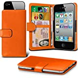 ( Orange) HŸlleObi Worldphone MV1 HŸlle HandyhŸlle pouch Gute QualitŠt DŸnn Kunstleder,Federklammer Clip on Adjustable Brieftaschen-Etui HŸlle HandyhŸlle Skin with Credit/Debit Card Slots Obi Worldphone MV1 HŸlle Von i-Tronixs