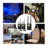UHF Wireless Lavalier Microphone System,ZhuoSheng WM10 100 Channels Clip Lapel Mic with 2 Bodypack Transmitters, Portable Receiver, XLR,3.5mm Outputs, Hot Shoe Mount for camcorder, DSLR Cameras,ENG EFP SONY … (1-2)