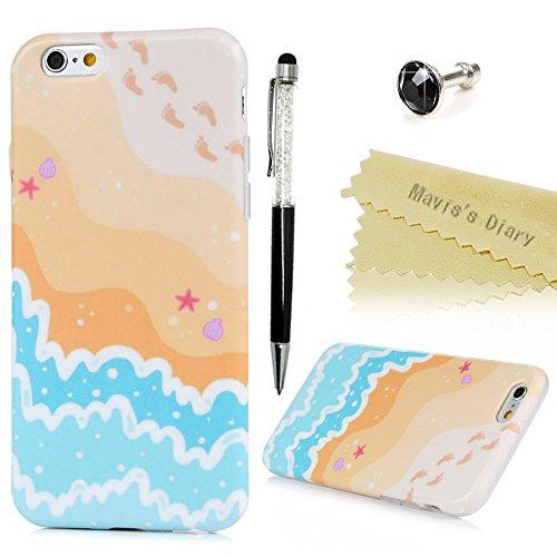 Mavis's Diary Coque iPhone 6 Plus/iPhone 6S Plus TPU Souple Dessin Housse de Protection Étui Téléphone Portable Phone Case+Stylet+Bouchon Anti-poussière Coloré motif 1