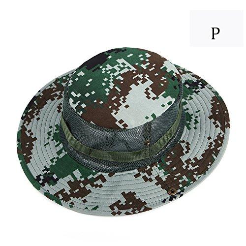 Summer Jungle Camuflaje Fisherman Cap Bucket Hat Gorra Militar Hombres  Mujeres Senderismo Fishing Wide Brim Cap c3c6e26cfe9