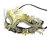 Venezianische Maske, Coofit Maskenball Masken Metall Maskerade Maske Masquerade Maske Venedig Maske...
