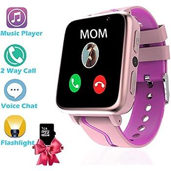 Reloj Inteligente Ninos con Musica MP3 - Smartwatch Niños con FM Cámara Pantalla Táctil Llamadas SOS, Reloj Niña Reloj Niña, Reloj Inteligente Niño de ...