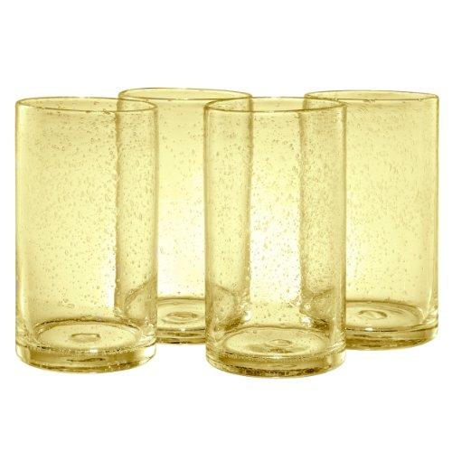 Artland Iris Highball Glasses, Citrine, Set of 4 by Artland (Highball Iris)