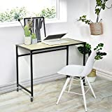 SYMY - Tavolo da Scrittura per Studio, scrivania per Computer Portatile, Elegante e Compatto, per Ufficio a casa, Colore: Marrone Scuro
