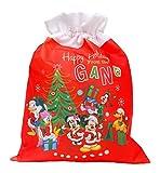 Ciao - Sacco Doni Natale Disney Small, Rosso, S, 90937