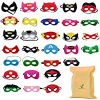 Formwin 30PCS Superhero Masks for Children Adults Kids Party Masquerade,Superhero Party Mask for Children Superhero Cosplay Party Eye Masks for Children Party Bags Fillers
