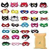Forwin 30 Piezas Mascaras Superheroes para Niños Kids Party Masquerade, Superhero Party Mask para niños Superhero Cosplay Party Máscaras de Ojos para niños Bolsas de Fiesta Rellenos