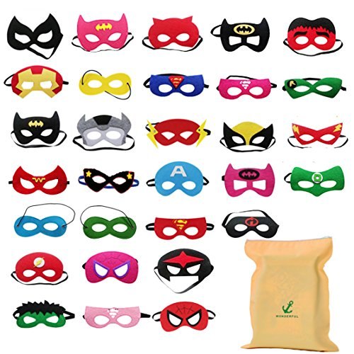 DIY House 30 Piezas Mascaras Superheroes para Niños Kids Party Masquerade, Superhero...