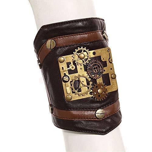 Yzibei Eleganter Showrock Gear Decor Handmade Cosplay Arm Armband Armbänder Harness Armband Gothic Steampunk Einstellbare Zubehör Club Wear Kostüme Cocktailkleid