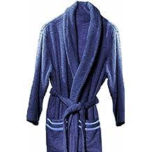 Atenas Home Textile Altea - Albornoz de rizo, talla XL, 100% algodón, 320 g/m², color azul marino