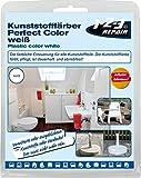 123repair Perfect-Color Kunststoff Aufbereitung I Kunststofffarbe Weiß mit Schwamm für Polyrattan Gartenmöbel Camping PVC Kunststoffpflege Kunststofffärber