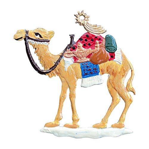 Zinngeschenke Kamel aus Zinn von Hand bemalt (HxB) 5,5 x 5,5 cm, Christbaumschmuck