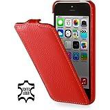 StilGut UltraSlim Case, Tasche aus Leder für Apple iPhone 5c, rot