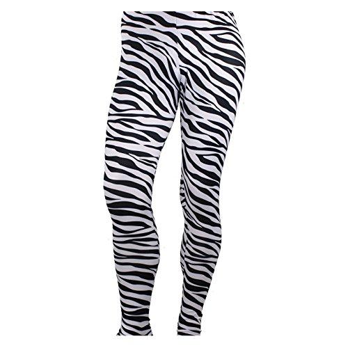 Hombres Heavy Metal Rocker Pantalones Cebra Negro/Blanco