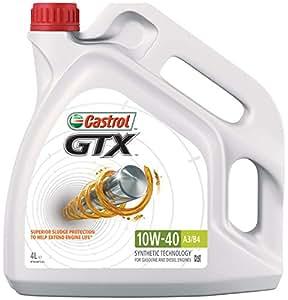 Castrol GTX 10W-40 A3/B4 Engine Oil, 4L