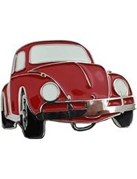 Retro Belt Buckle - Red Beetle