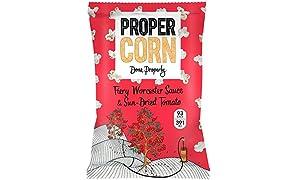 Propercorn Fiery Worcester Sauce & Sun di pomodori secchi 80G